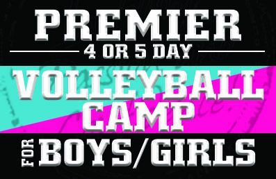 HITT Premier 4 or 5 Day Volleyball Camps